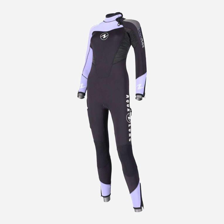 DynaFlex 5.5mm Wetsuit Women, Black/Purple, hi-res image number 2