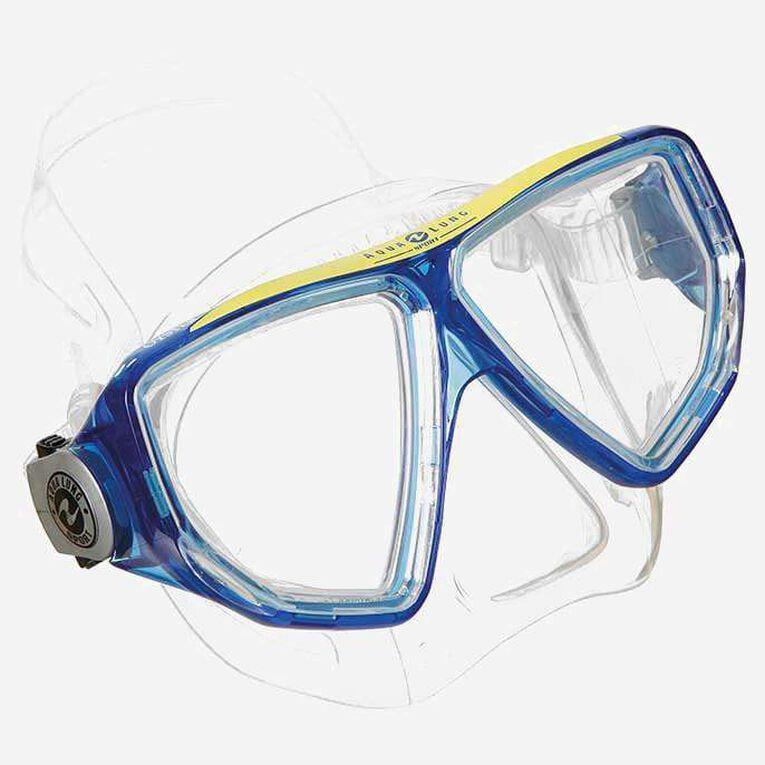Oyster snorkeling mask, Blue/White, hi-res image number 0