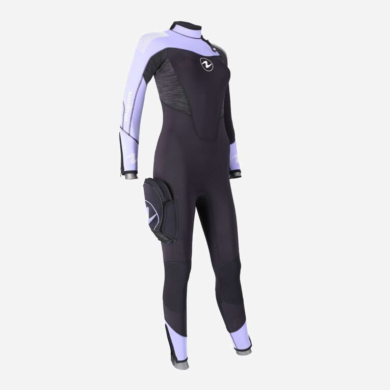 DynaFlex 7mm Wetsuit Women, Black/Purple, hi-res image number 2