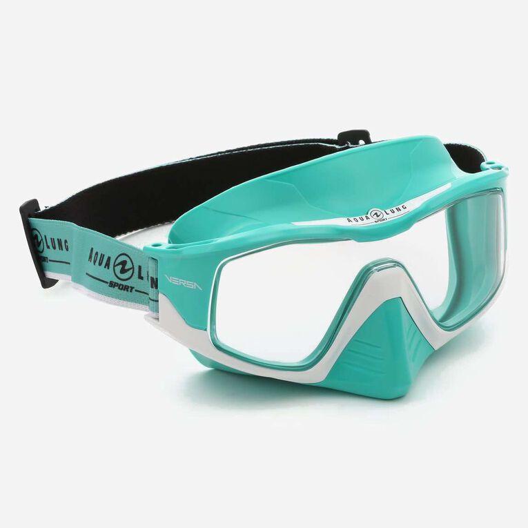 Versa Snorkeling mask, Türkis/Weiß/Transparent, hi-res image number 0