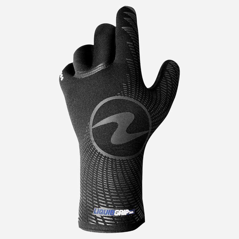3mm Liquid Grip Gloves, Black/Blue, hi-res image number 1