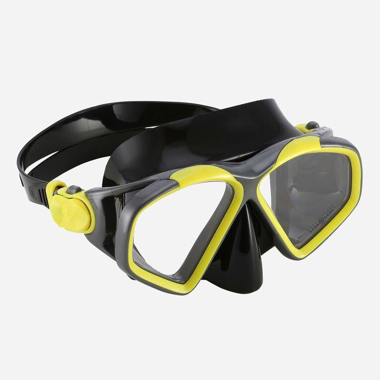Hawkeye Snorkeling mask, Bright yellow/Dark grey, hi-res image number 0