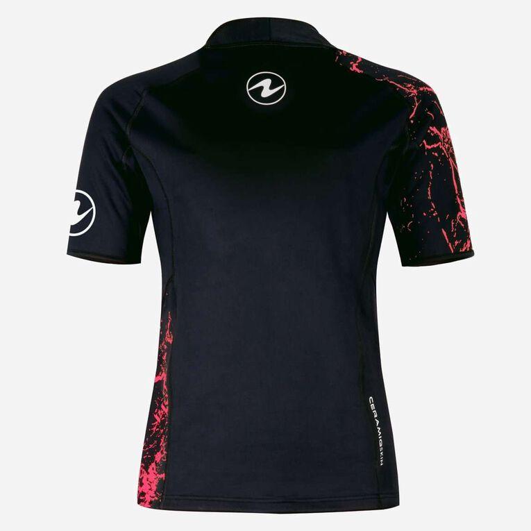 CeramiQskin Short Sleeves Top Women, Schwarz/Koralle, hi-res image number 1