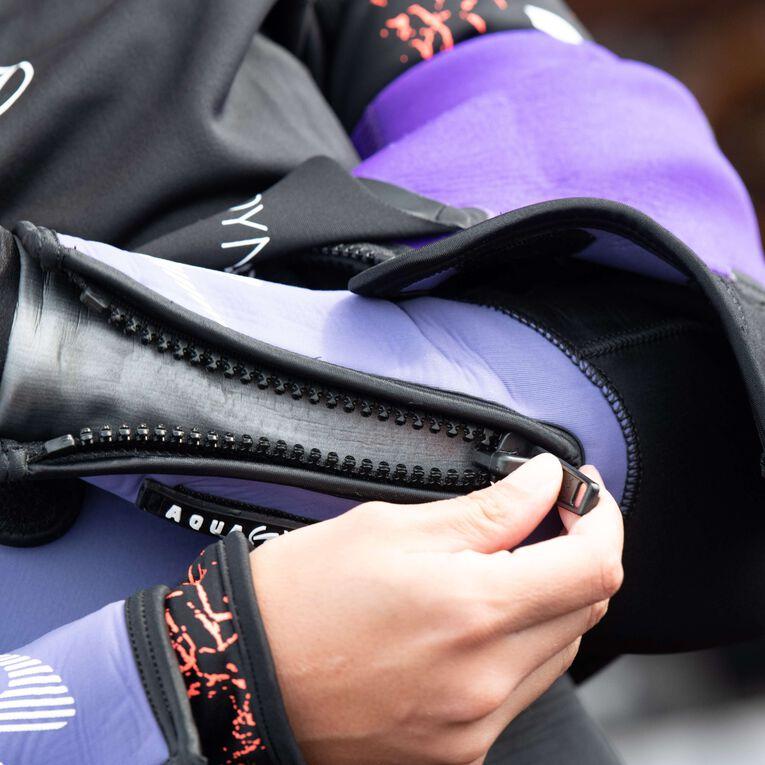 DynaFlex 7mm Wetsuit Women, Black/Purple, hi-res image number 4