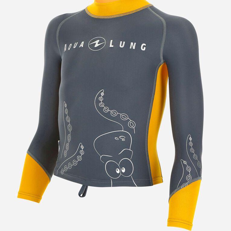 Rashguard Long Sleeves - kids, Grey/Orange, hi-res image number 0