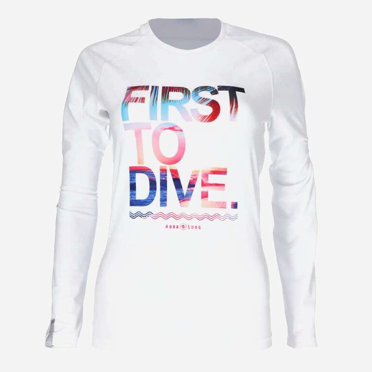 Sportswear Rashguard - Women, White/Multicolor, hi-res image number 0
