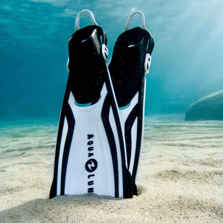 Amika Snorkeling Fins, White/Black, hi-res image number 1