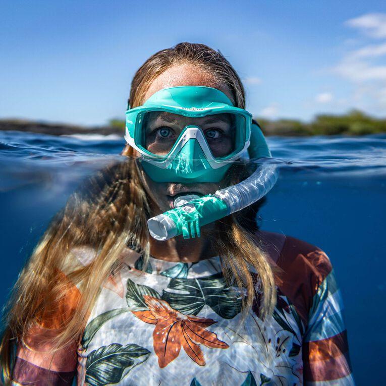 Versa Snorkeling mask, Türkis/Weiß/Transparent, hi-res image number 3