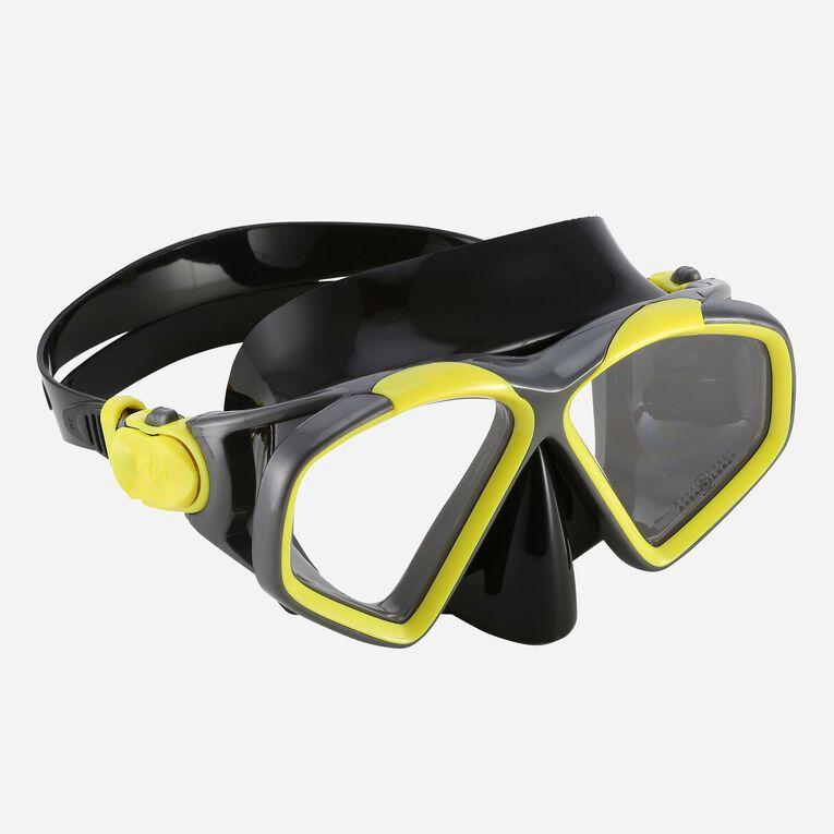 Hawkeye Snorkeling mask, Bright yellow/Dark grey, hi-res image number null