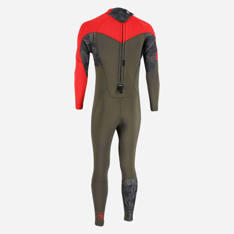 Xscape 4/3mm Wetsuit - Men, Dunkelgrün/Rot, hi-res image number 3