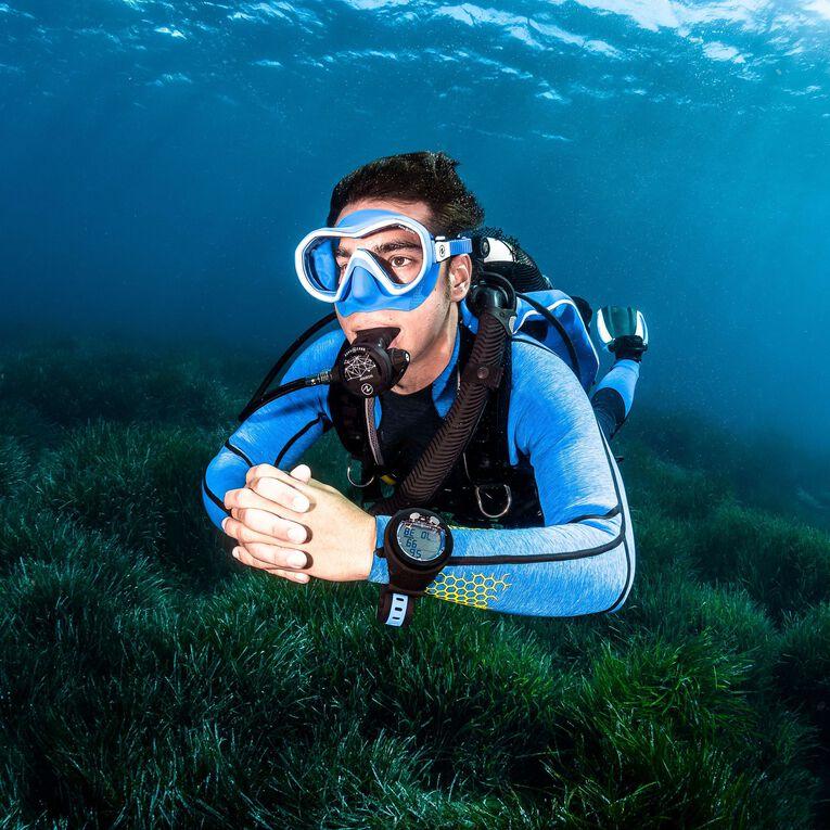 AquaFlex 5mm Wetsuit - Men, Grey/Blue, hi-res image number 4
