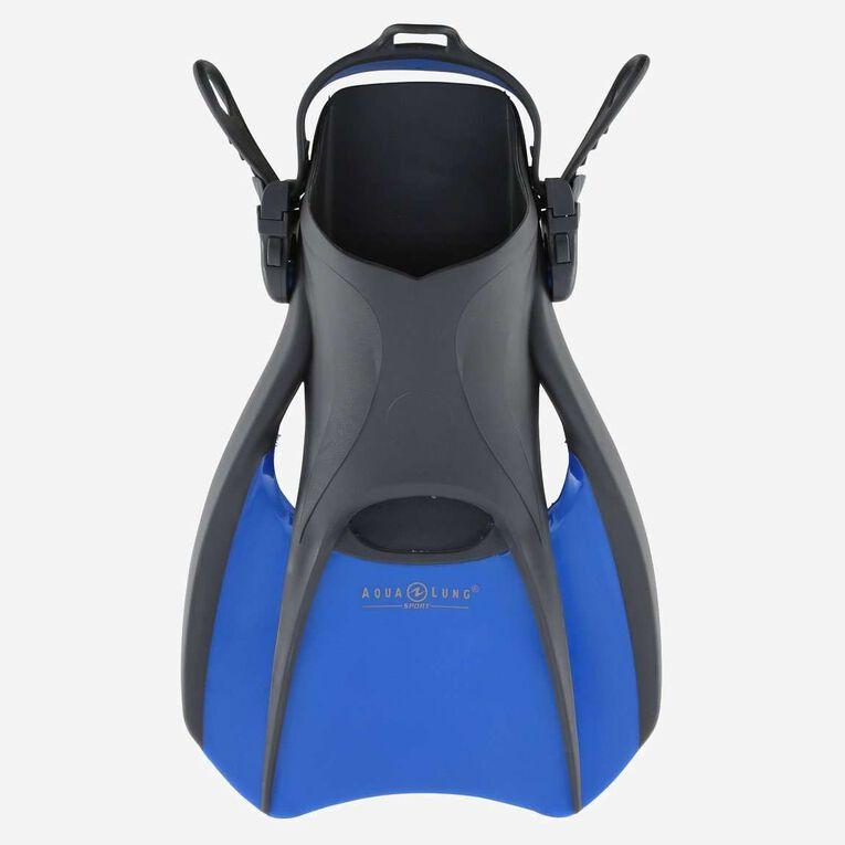 Bolt Travel Snorkeling Fins, Blue/Black, hi-res image number 0