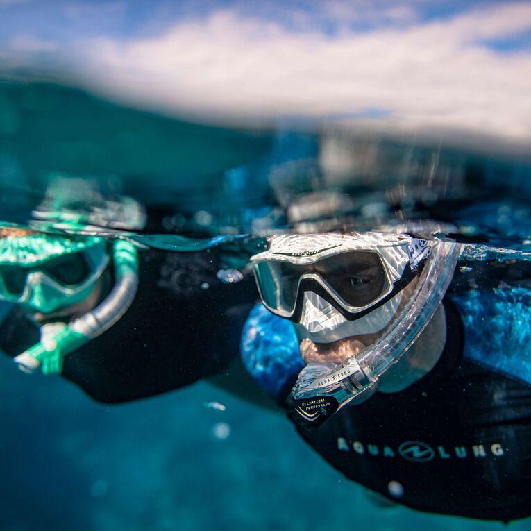 Versa Snorkeling mask, Türkis/Weiß/Transparent, hi-res image number 4