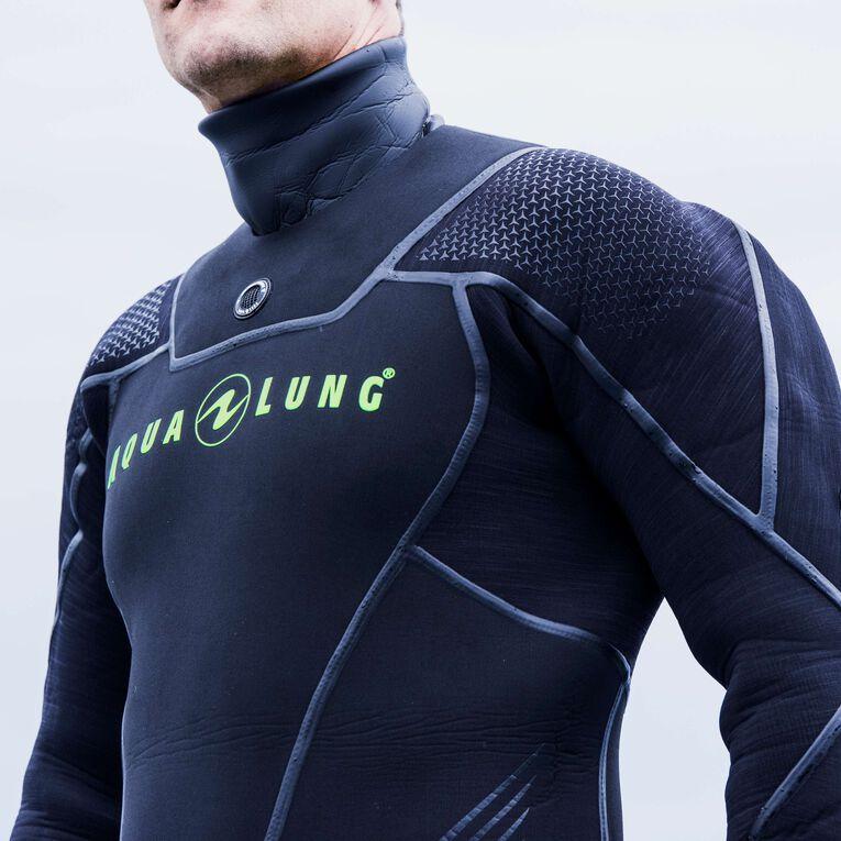 Iceland 7mm Semi-Dry Wetsuit Men, Black/Hot lime, hi-res image number 3