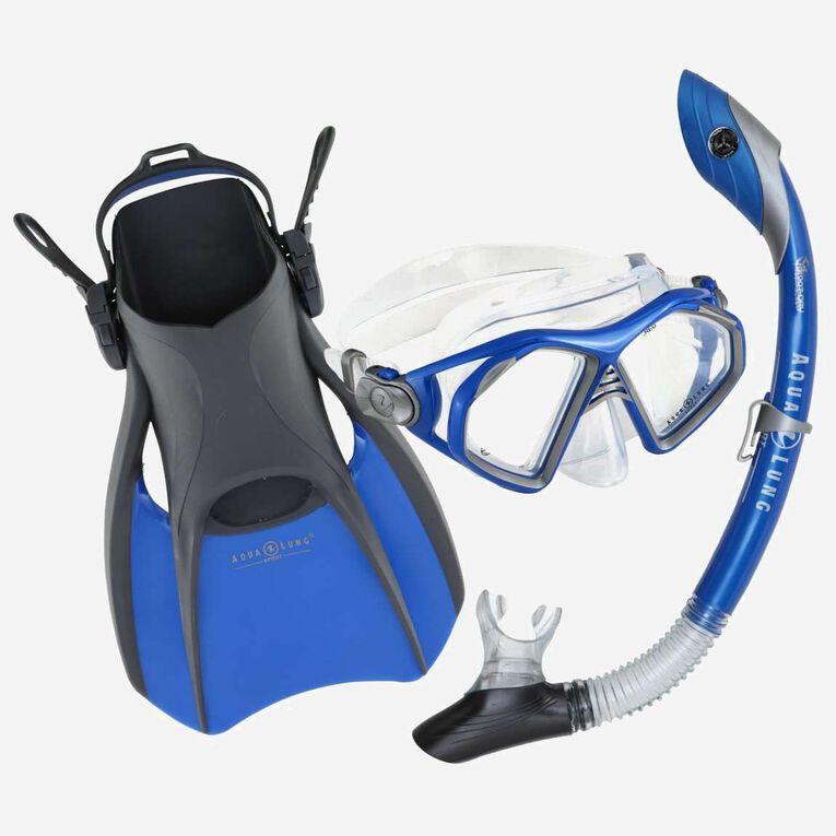 Trooper Travel Snorkeling Set, Blue/Black, hi-res image number 0