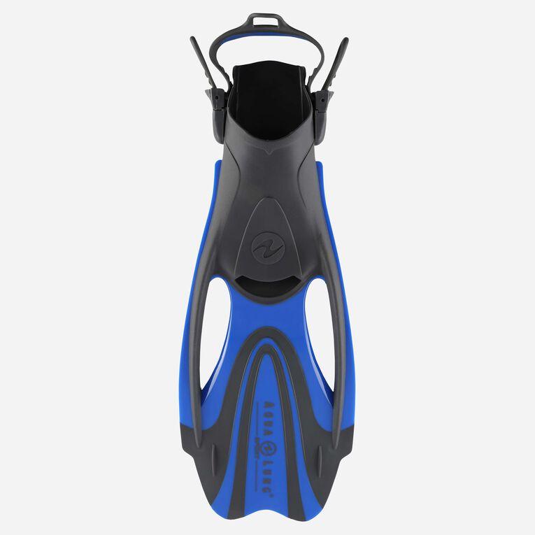 Zinger Snorkeling Fins, Grey/Light blue, hi-res image number 0