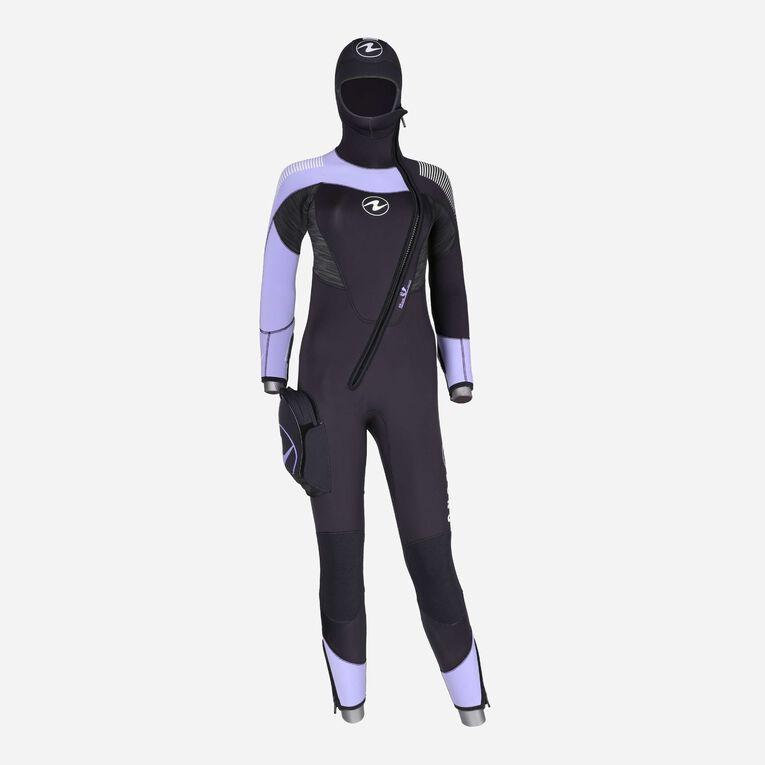 DynaFlex 6.5mm Wetsuit with Hood Women, Schwarz/Lila, hi-res image number 0