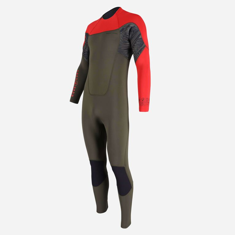 Xscape 4/3mm Wetsuit - Men, Dunkelgrün/Rot, hi-res image number 2