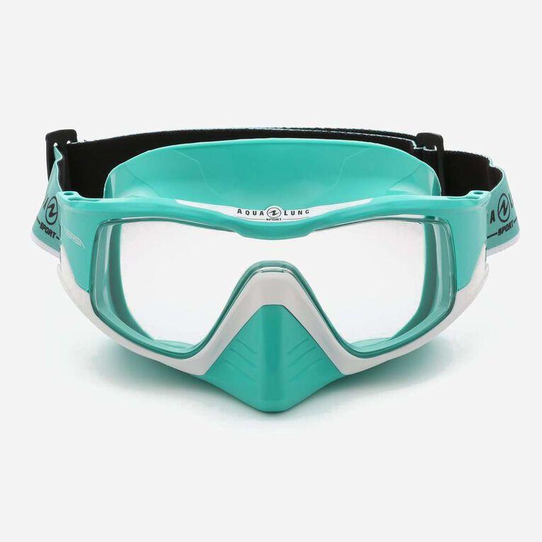 Versa Snorkeling mask, Türkis/Weiß/Transparent, hi-res image number 1
