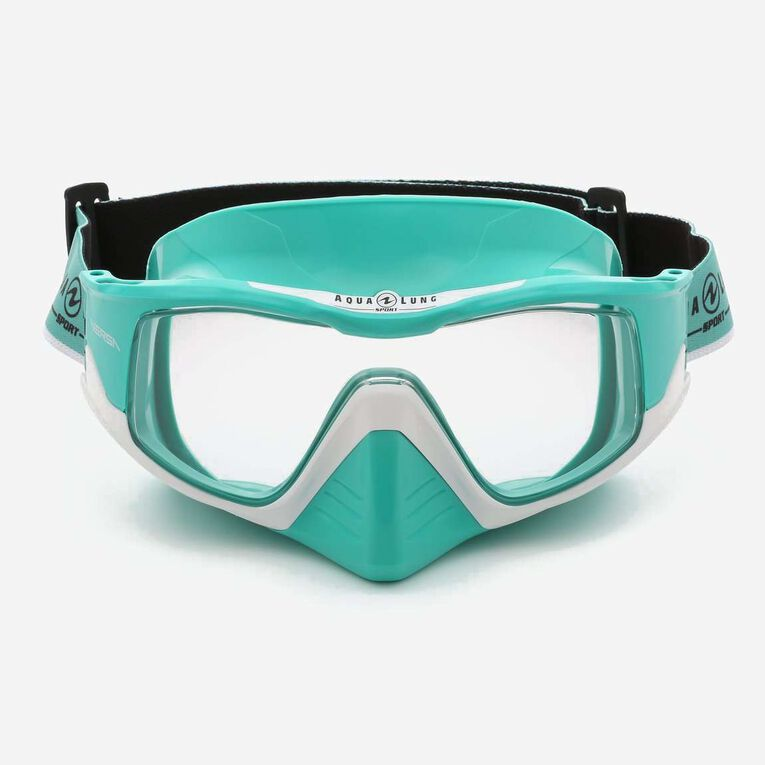 Versa Snorkeling mask, Turquoise/White/Lenses clear, hi-res image number null