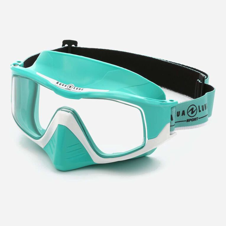 Versa Snorkeling mask, Turquoise/White/Lenses clear, hi-res image number 2