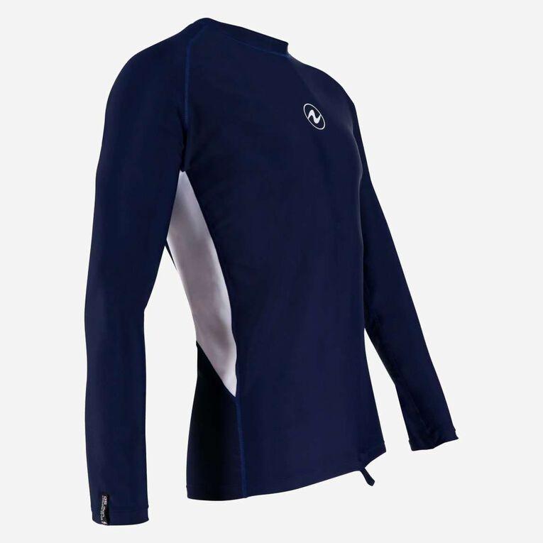 Rashguard Loose fit Long sleeves - Men, Navy blue/White, hi-res image number 1