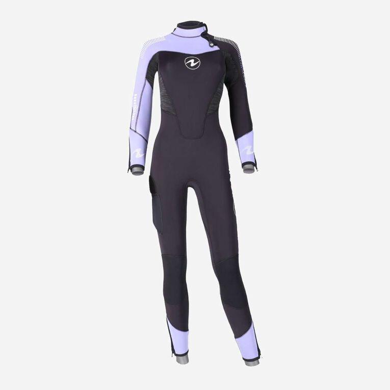 DynaFlex 5.5mm Wetsuit Women, Black/Purple, hi-res image number 0