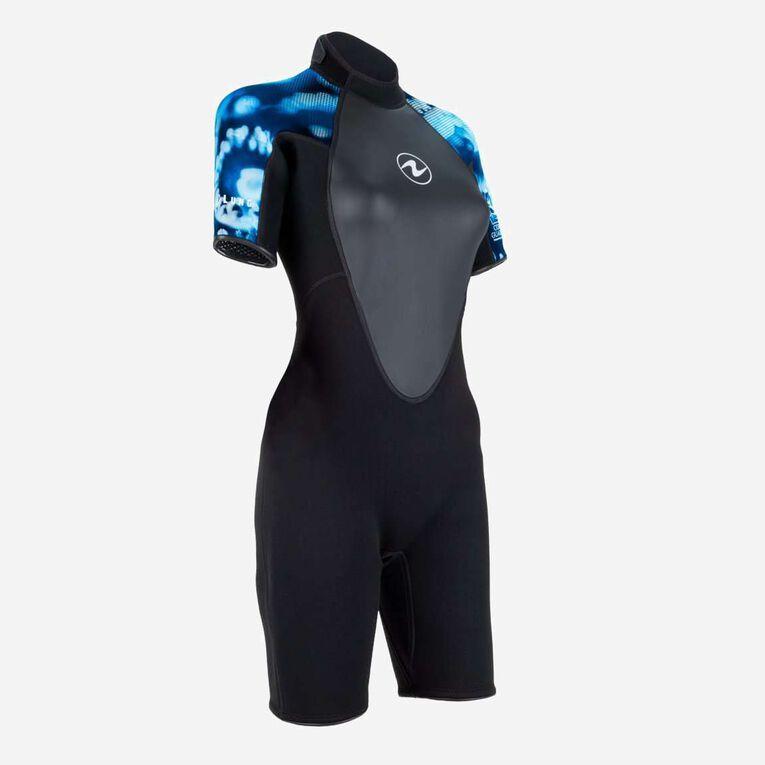 HydroFlex 3mm Coral Guardian Shorty Women, Black/Blue, hi-res image number 1