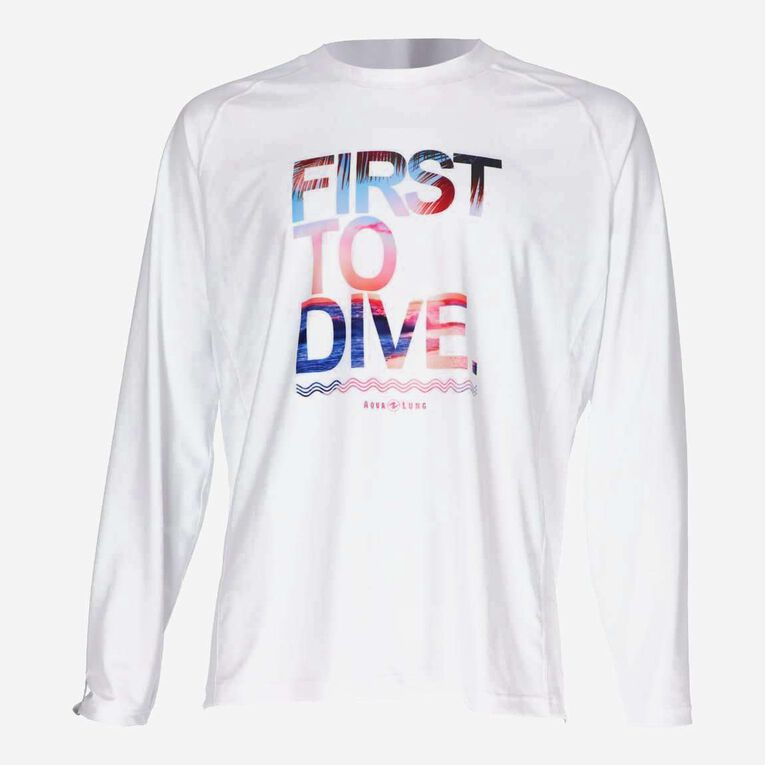 Sportswear Rashguard lifestyle fit short sleeve - Men, White/Multicolor, hi-res image number 0