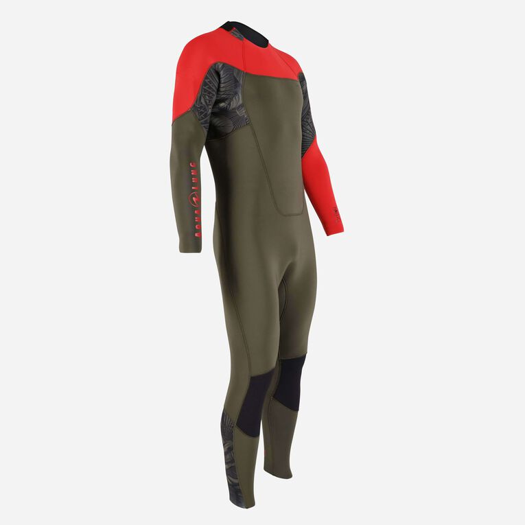 Xscape 4/3mm Wetsuit - Men, Dunkelgrün/Rot, hi-res image number 1