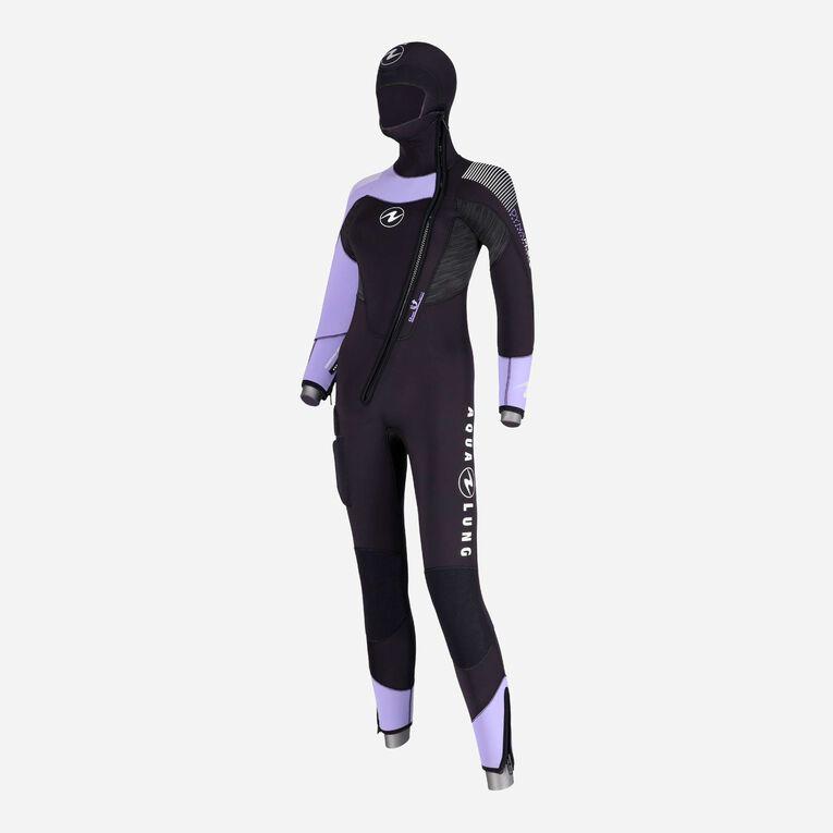 DynaFlex 6.5mm Wetsuit with Hood Women, Schwarz/Lila, hi-res image number 1