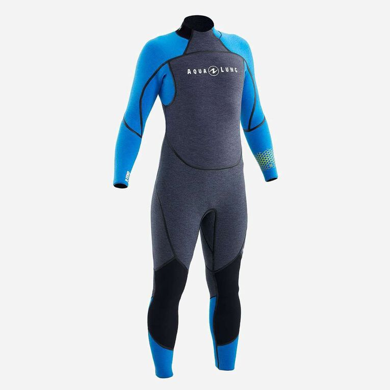 AquaFlex 5mm Wetsuit - Men, Grey/Blue, hi-res image number 0
