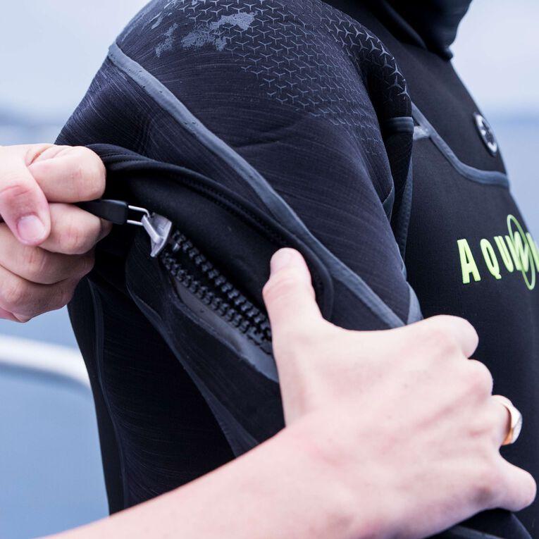 Iceland 7mm Semi-Dry Wetsuit Men, Black/Hot lime, hi-res image number 4