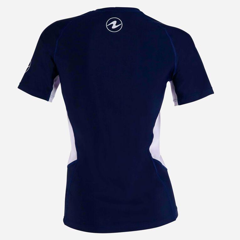 Rashguard Loose Fit Short sleeves - Women, Navy blue/White, hi-res image number 3