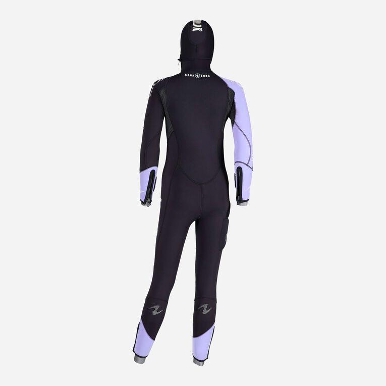 DynaFlex 6.5mm Wetsuit with Hood Women, Schwarz/Lila, hi-res image number 3