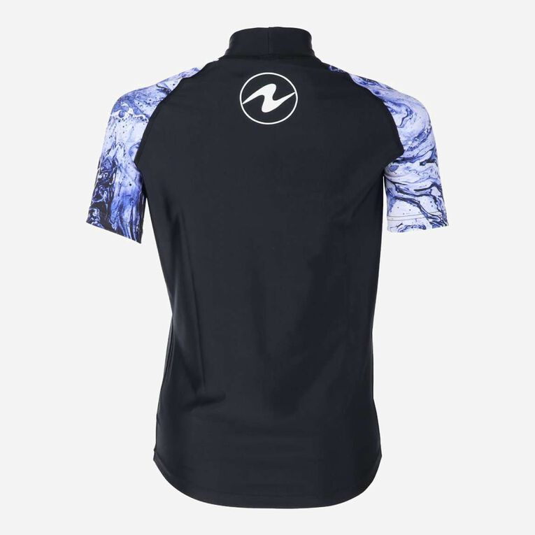Aqua Rashguard Short Sleeve - Women, Purple/White, hi-res image number 3