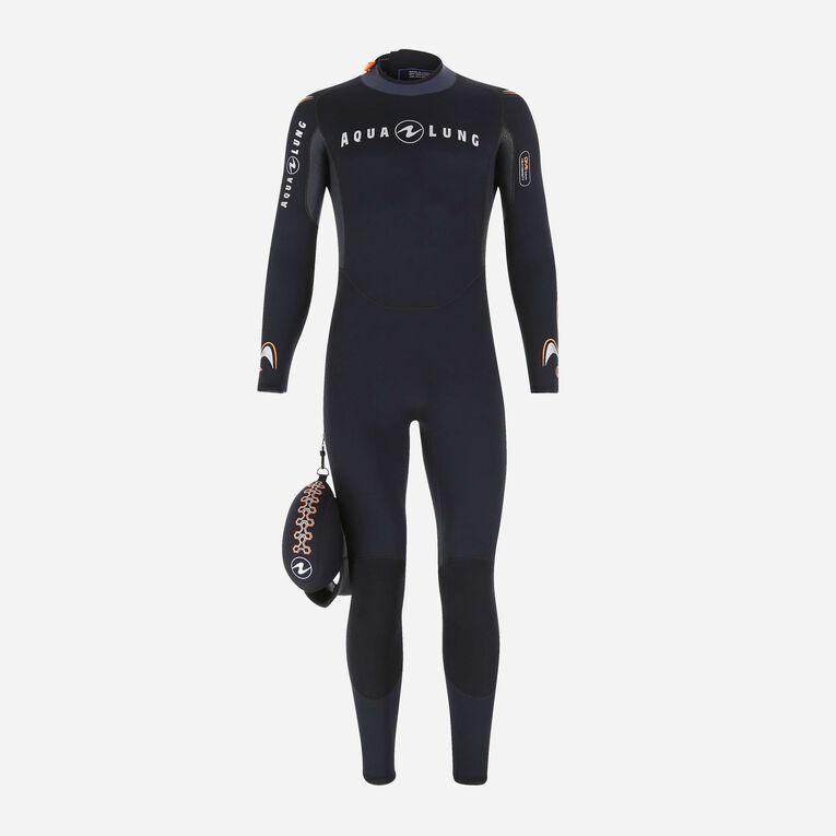 Dive 7mm Wetsuit, Schwarz/Orange, hi-res image number 0