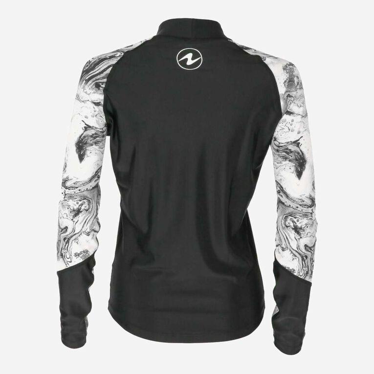 Aqua Rashguard Long Sleeve - Women, Black/White, hi-res image number 3