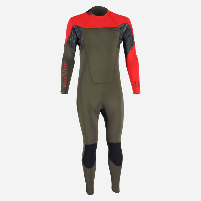 Xscape 4/3mm Wetsuit - Men, Dunkelgrün/Rot, hi-res image number 0
