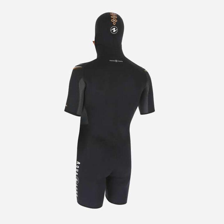 Dive 5.5mm Jacket, Schwarz/Orange, hi-res image number 1