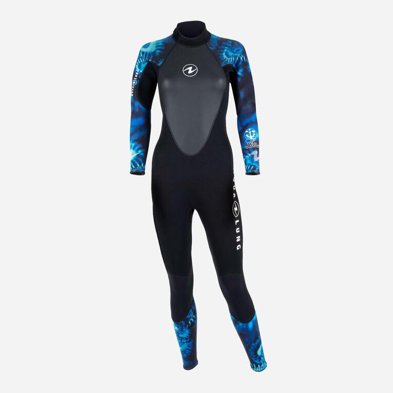 HydroFlex Coral Guardian 3mm Wetsuit Women, Black/Blue, hi-res image number 0